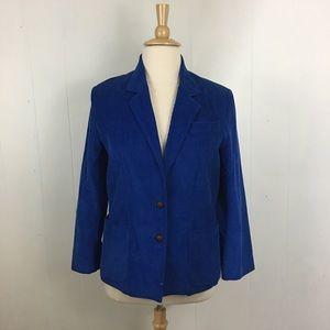 Vintage 80's 90's Corduroy 2 Button Blazer Jacket